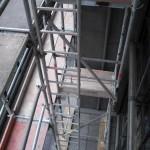 Gerüstaufgang mit Leiter