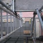 Leiteraufgang im Gerüst (München)