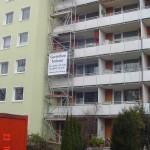 Gerüstbau München - Turmgerüst in Trudering