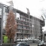 Fassadengerüst für Wetterschutzdach