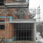TG-Abfahrt mit Gerüst überbaut