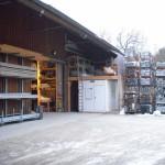 Lagerplatz für Gerüstbau