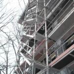 Gerüst mit Treppenaufgang