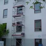 Gerüst mit Leiteraufgang