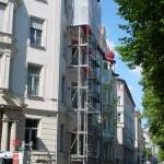 Wetterschutzdach für Balkonsanierung