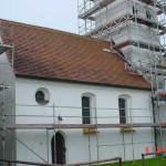 Gerüst Kirche Poigern