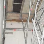 Gerüst im Treppenhaus