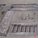 Fahrgerüst zerlegt (alles Aluminium)