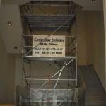 Gerüstbau in Treppenauge in Garching bei München