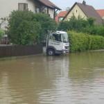 Gerüstbau und Hochwasser