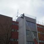 Gerüstbau und Flachdach Sicherung bei München