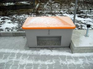 Gerüstbau im Winter