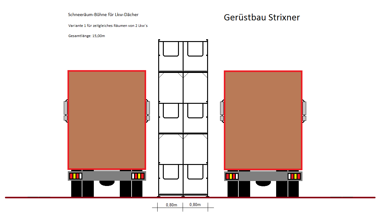 schneer um b hne f r lkw d cher ger stbau strixner gmbh. Black Bedroom Furniture Sets. Home Design Ideas