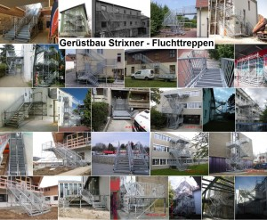 Fluchtreppen Beispiele Gerüstbau Strixner GmbH Olching bei München, Bayern
